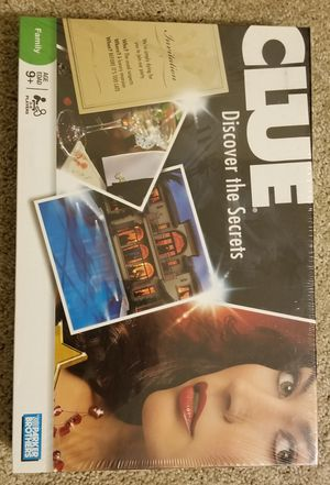 Brand New sealed Clue Discover the Secrets board game for Sale in Downers Grove, IL