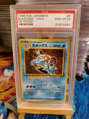 1998 Pokemon Japanese CD Holo Promo BLASTOISE #9 PSA 10 GEM MINT for Sale in Los Angeles, CA