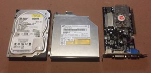 Computer Part Lot 80GB Hard Drive + CD-RW/DVD Drive + 256MB ATi Graphics Card for Sale in Portland, OR