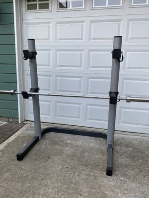 Adjustable Squat Rack for home gym (Olympic bar not included) for Sale in Snohomish, WA