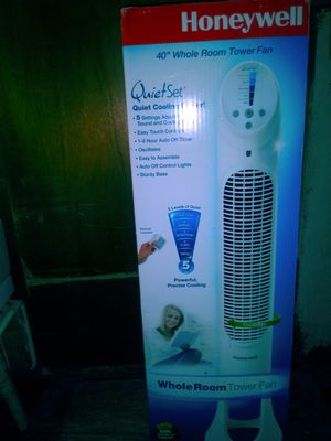 Honeywell quiet cool whole room Tower fan for Sale in Oklahoma City, OK