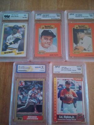 23 graded baseball cards! All sales final and as is. for Sale in Orlando, FL