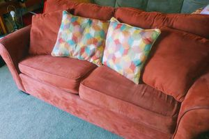 Suede leather fold-out couch for Sale in Pensacola, FL