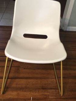 White &Gold IKEA Desk Chair for Sale in Seattle,  WA