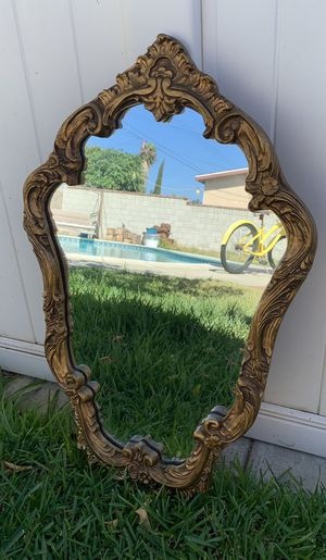 "Antique Vintage Gold Ornate Baroque Style Syroco Framed Mirror, 30"" x 19"" — Pending Sale for Sale in Los Angeles, CA"