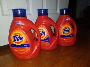 3 tide laundry detergent 100oz for Sale in Hyattsville, MD