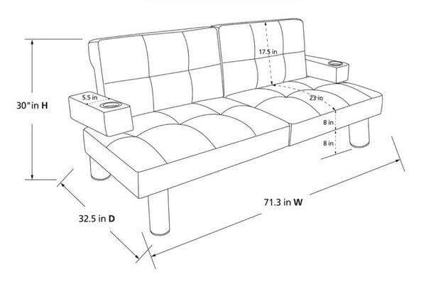 Convertable futon