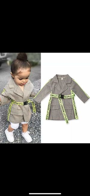 Kids Baby Girl Winter Coats Clothes Belted Plaid Print Coat Jacket for Sale in New York, NY