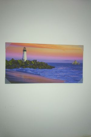 Lighthouse painting - print on canvas for Sale in Melbourne, FL