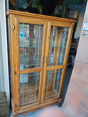 vintage china cabinet hutch display case for Sale in Chino Hills, CA