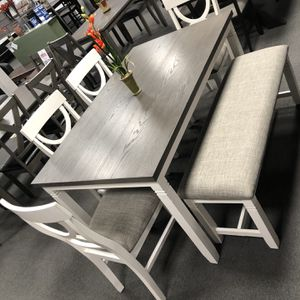 6PC Gray Dining Table for Sale in Fresno, CA