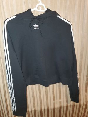 Adidas Women Black and White Cropped Hoodie for Sale in San Diego, CA