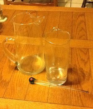 Glass martinis pitcher/ Juice pitcher/ Milk pitcher/ Glassware for Sale in Brandon, FL