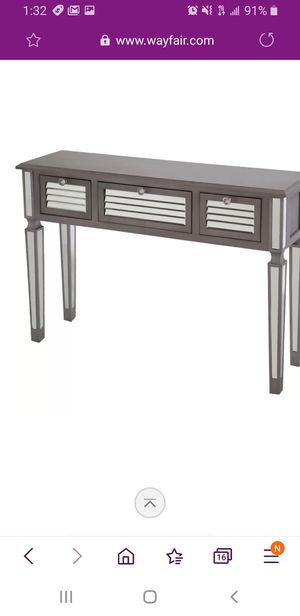 Gray mirrored console table. Used. for Sale in Hillsboro, OR