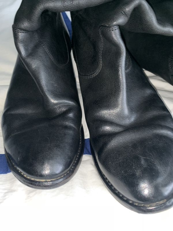 Frye Jackie Button Tall Boot, Black Size 9, Pre-Owned, Newly Resoled