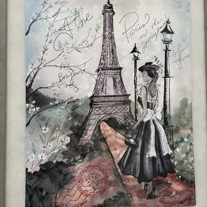 I Have A Paris Painting from Paris them and sing at church for Sale in Orlando, FL