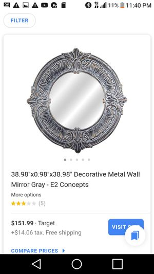 Metal deco wall mirror for Sale in Southaven, MS