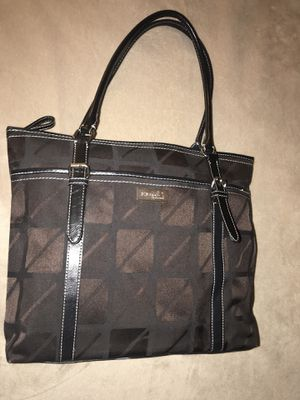 Nine & CO by Nine West Purse Tote Shoulder Bag Black fabric faux leather trim for Sale for sale  Woodbridge Township, NJ
