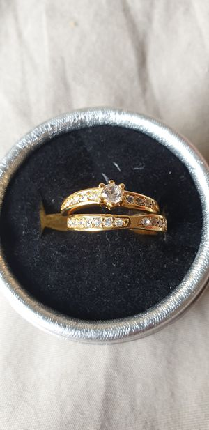 Gold filled cz wedding ring size 7.5 for Sale in McLean, VA