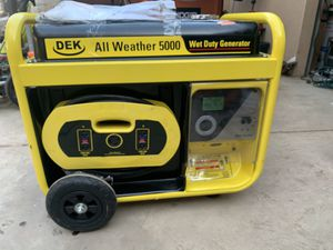 DEK 5000 generator for Sale in Fresno, CA