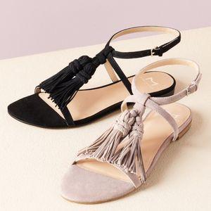 Marc Fisher | 'Crystal' Black Tassel Flat Sandals- SZ 9 for Sale in Las Vegas, NV