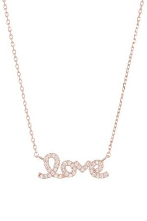 ADORNIA 14K Rose Gold Plated Sterling Silver Cursive Love Pendant Necklace for Sale in Lombard, IL