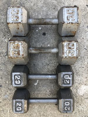 Dumbbells workout weights 30s and 20s dumbells for Sale in Culver City, CA