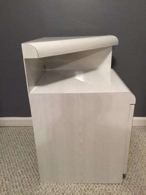 Custom white formica end table for Sale in Staten Island, NY