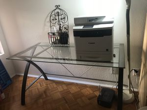 Beautiful Glass Desk priced to sell! for Sale in San Diego, CA