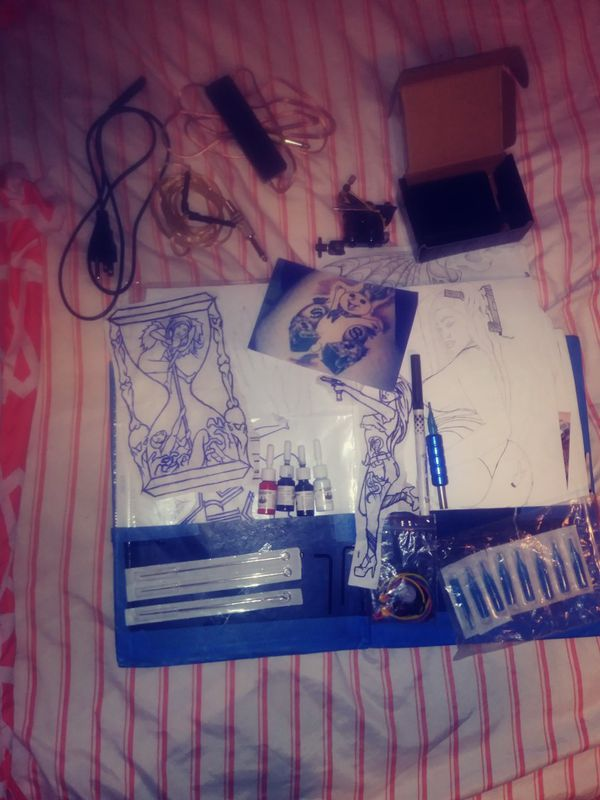 Tattoo kit only used once want 150 but will take 100