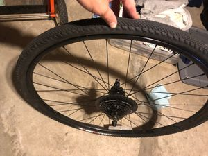 700c rear wheel with cassette and tire for Sale in Oakland, CA