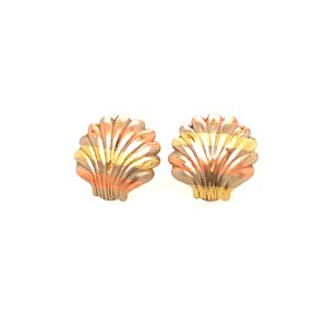 14k Tricolor Gold Shell Earrings for Sale in Woodbridge, VA