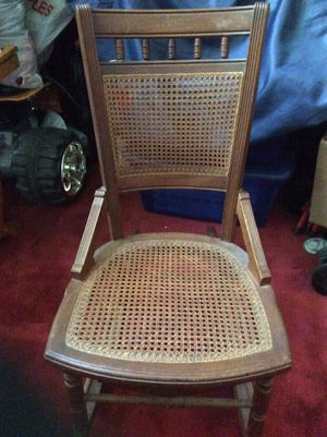 Antique cane rocking chair for Sale in Ellicott City, MD