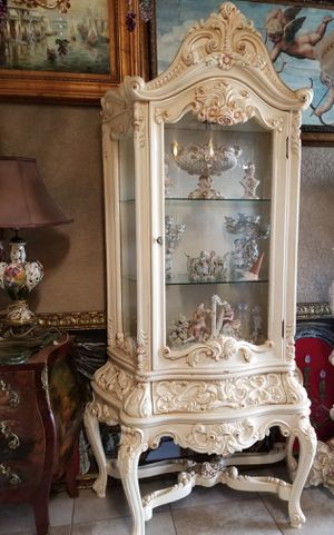Antique furniture curio cabinet hand painted for Sale in Miami, FL