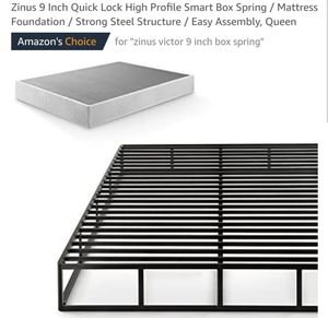 Zinus Victor 9 Inch Quick Lock High Profile Smart Box Spring - Queen for Sale in Canal Winchester, OH