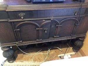 Antique wood cabinet for Sale in Los Angeles, CA