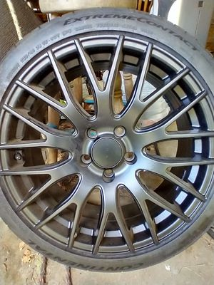 """2 brand new rim and tire 18"""" Drag Rims brand NEW for Sale in Gresham, OR"""