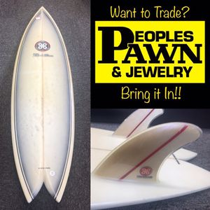 "Viking 5'10"" Twin Fin Surfboard for Sale in HALNDLE BCH, FL"