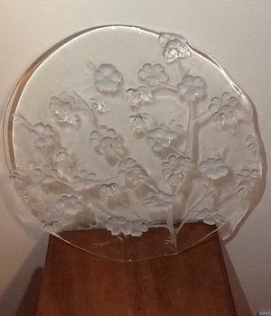 Crystal Glass 12 3/4 '' flat cake plate for Sale in Silver Spring, MD