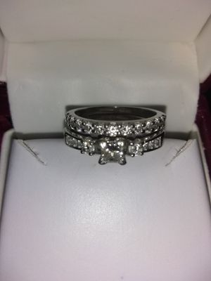 Like new,Princess cut wedding ring and engagement ring. for Sale in Greencastle, IN