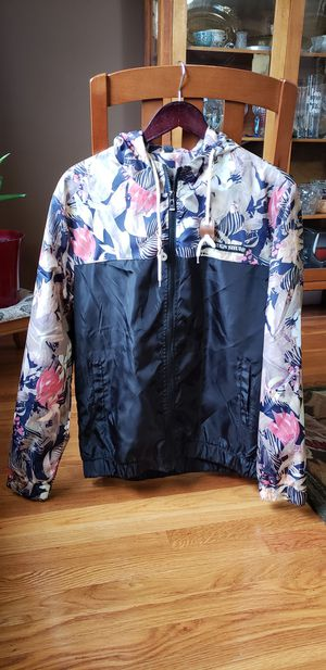 Men's Stylish Floral Printed Light Weight Hoodie Jacket Windbreaker Coat for Sale in Wayland, MA