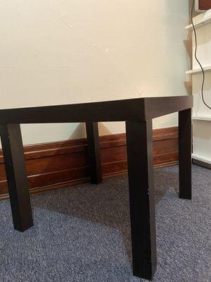 IKEA black side table for Sale in Spokane, WA