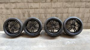 20 inch Black Rims/Wheels Set of 4 for Sale in Los Angeles, CA