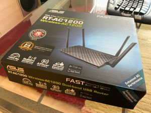 Asus RT-ac1200 WiFi router (1200Mbps dual band 2.4 and 5Ghz) for Sale in Pacifica, CA