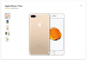 Apply iPhone 7 Plus - 128GB - Gold - A1784 (Unlocked) for Sale in Sherwood, OR