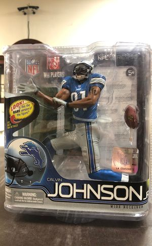 Detroit Lions McFarlane Calvin Johnson Jr. Collectible Action Figure for Sale in Concord, NC