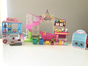 Shopkins play house, shopping store, furniture, collectibles with case, dolls etc for Sale in BVL, FL