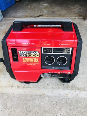 Honda Generator EX 1000 $280 for Sale in Plainfield, IL