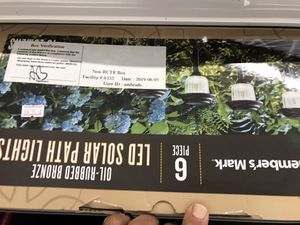Lead solar path lights. Six piece no open box for Sale in Parma Heights, OH