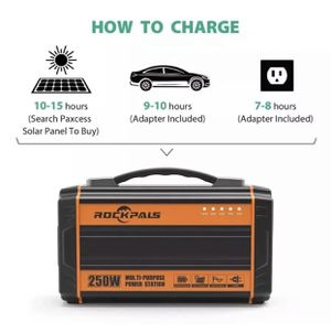Rockpals 250-Watt Portable Generator Rechargeable Lithium Battery Pack Solar AC for Sale in Somerset, NJ
